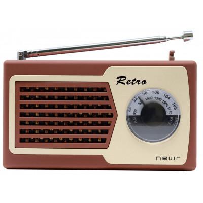 Radio Nevir NVR200MARRON