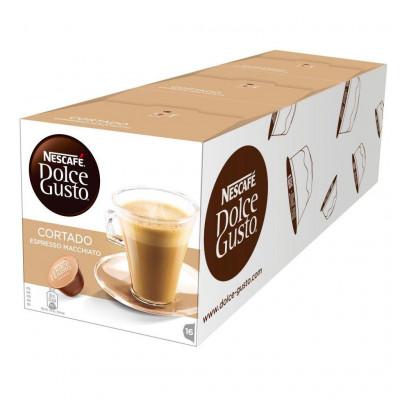 Capsulas cafe Dolce Gusto Nestle CORTADO (3 estuc - 1