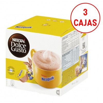 Capsulas cafe Dolce Gusto Nestle NESQUIK (3 estuc - 1