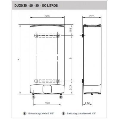 Termo electrico Fleck DUO550 - 3