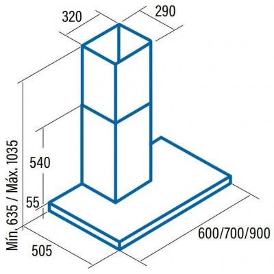 Campana decorativa T invertida Cata SYGMAX9000 - 3