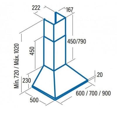 Campana decorativa piramidal Cata OMEGA900 - 3