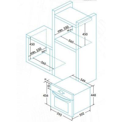 Horno indep. Compacto Edesa EOE4520X - 3