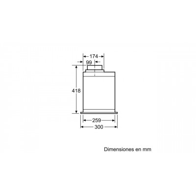 Campana conv. Grupo filtrante Balay 3BF277EX - 3