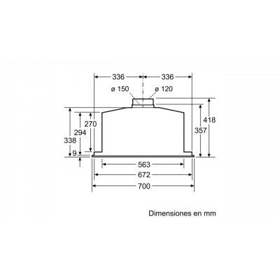 Campana conv. Grupo filtrante Balay 3BF277EX - 4