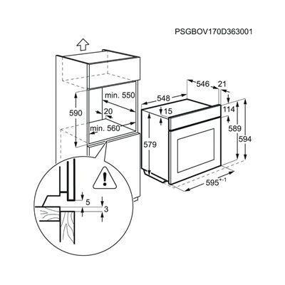 Horno MF pirolitico indep. Aeg BPE535120M - 3