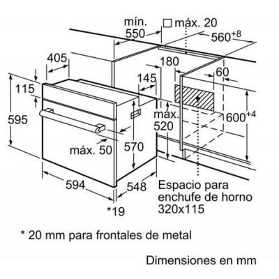Horno indep. MF Balay 3HB2010X0 - 2