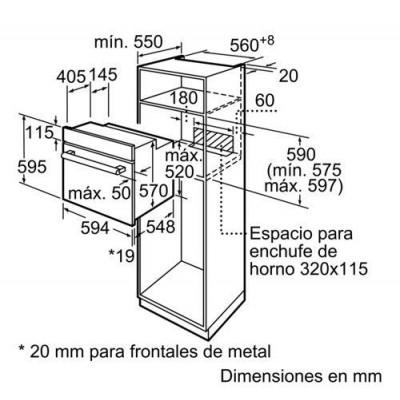 Horno indep. MF Balay 3HB2010X0 - 3
