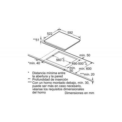 Vitroceramica induccion indep. Bosch PID631BB3E - 5