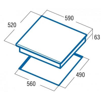 Vitroceramica induccion indep. Cata IB6030WH - 2