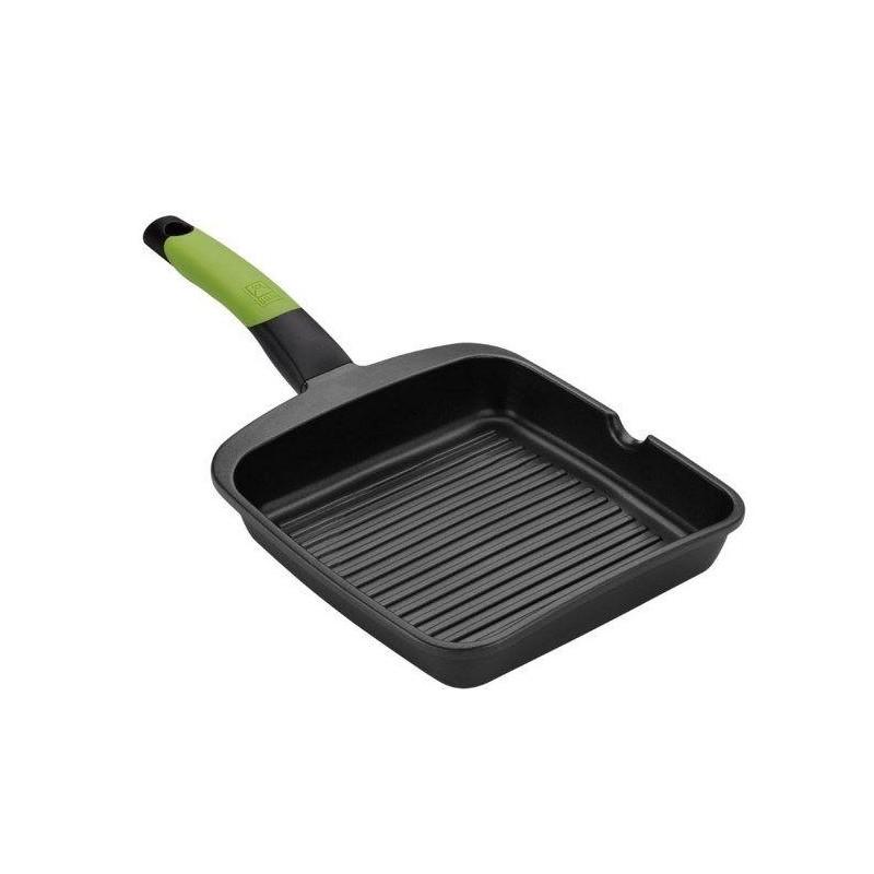 Sarten grill Bra PRIOR VERDE A121457, CON RAYAS 28 - 1