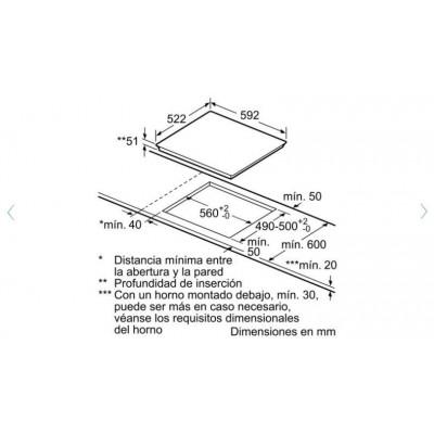 Vitroceramica induccion indep. Bosch PIJ651BB2E - 2