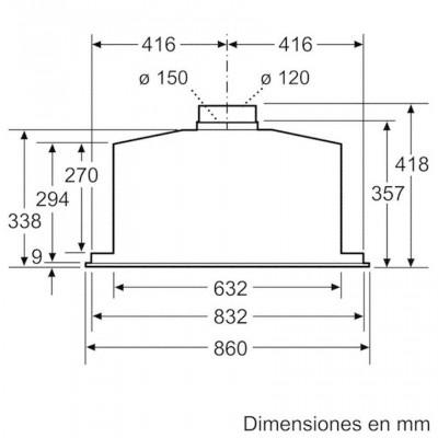 Campana conv. Grupo filtrante Balay 3BF859XP - 4