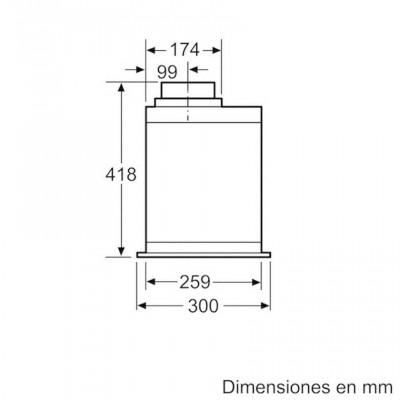 Campana conv. Grupo filtrante Balay 3BF859XP - 5